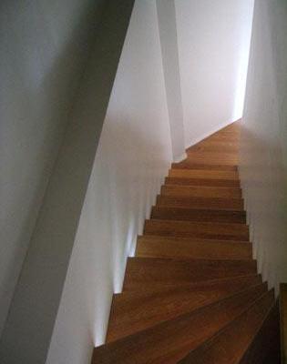 Escalier  droit chêne