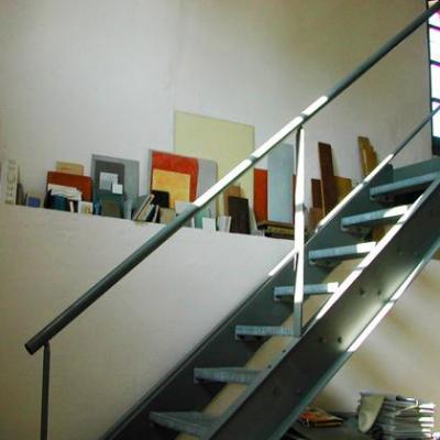 Escalier industriel récupéré
