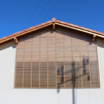 Pignon filtre ventilé bois et pmma ondulé