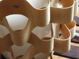 lampe design bois galbé