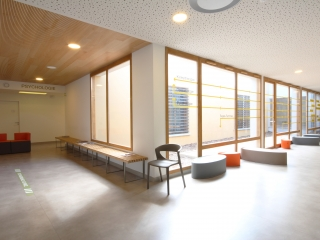 Patio et plafond bois