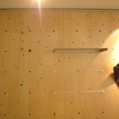 Paroi bois et système d'accrochage Design AB2