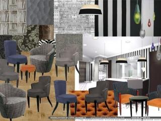 Ambiance  des choix de mobilier & tissus