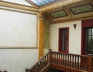 Restauration des staffs et peintures Art Nouveau