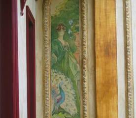 Gros plan d'un peinture Art Nouveau